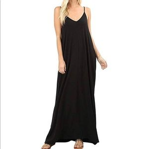 Women's basic sleeveless maxi dress (S-XL)